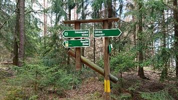 Foto Wegweiser zum Schneebergblick und Rotstein