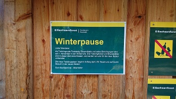 Foto Rotsteingütte - Hinweisschild zur Winterpause