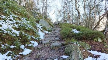 Foto Aufstieg auf den Hohen Schneeberg