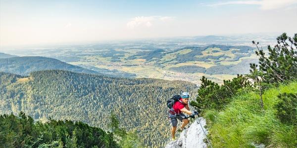 Aussicht vom Pidinger Klettersteig