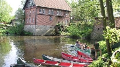 Kanuverleih - Kanustation Pleistermühle an der Werse in Münster