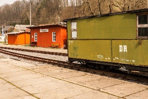 Foto Bahnstation Lohsdorf - liebevoll instandgesetzt