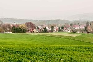 Foto Blick auf Ulbersdorf von Lohsdorf kommend