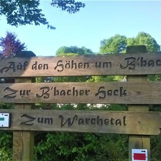 Start aan de kerk in Bütgenbach vlakbij het toeristisch bureau