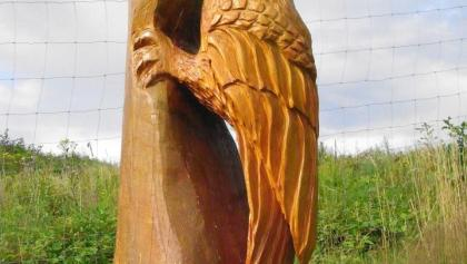 Skulptur von Baumschnitzer Konrad Scholzen