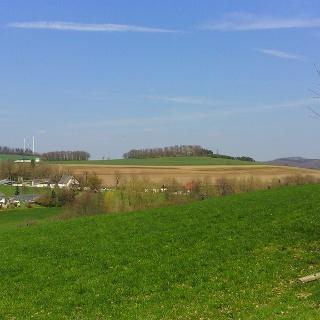A1, A2 Blintrop - Blick auf Windräder Benkamp