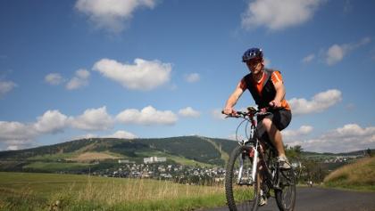 Radfahren bei Oberwiesenthal