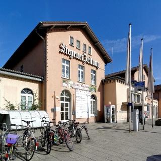 Der 1861 errichtete Bahnhof - heute Hauptbahnhof Siegen.