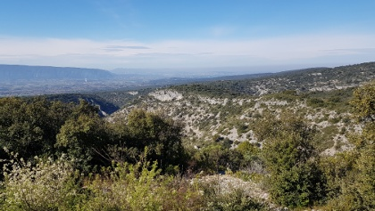 Beautiful views over the Senancole Gorge