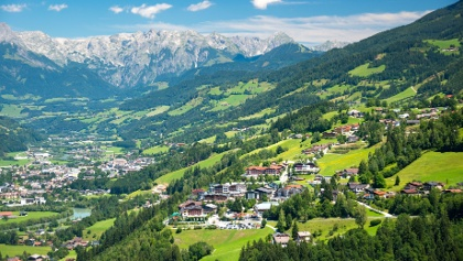 Talansicht Alpendorf