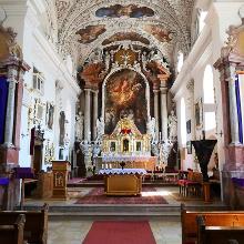 Innenansicht Wallfahrtskirche Gartlberg