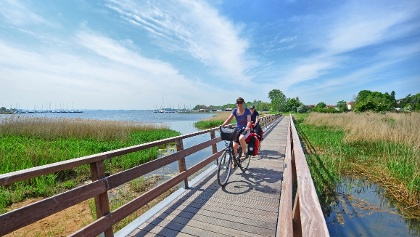 Radfahrer Insel Poel