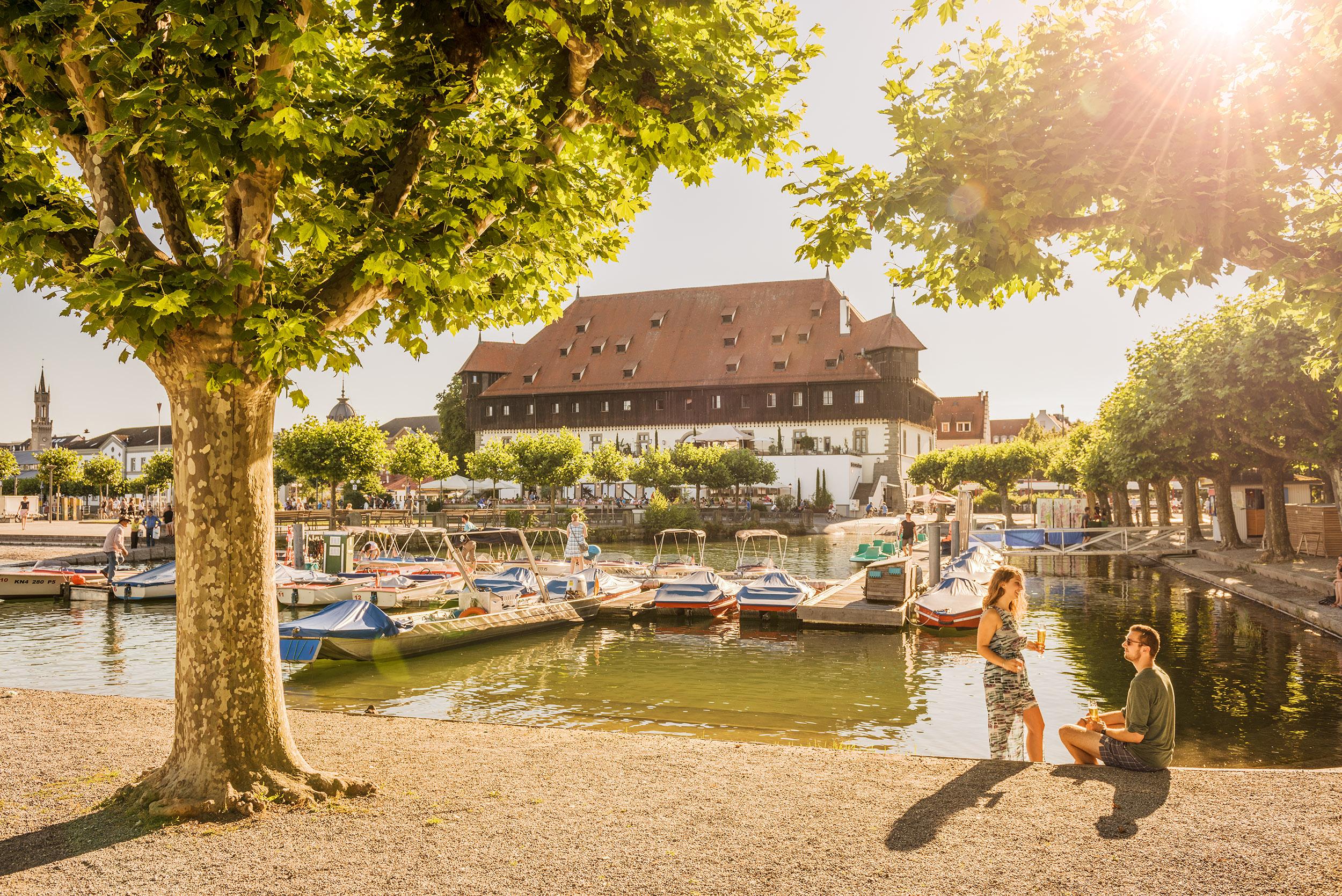 Konstanzer Stadtgarten mit Blick auf das Konzil