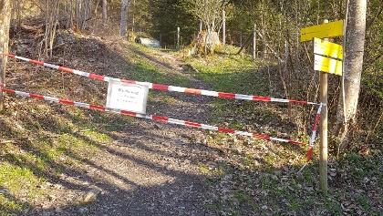 Sperre Grubeggweg
