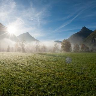 Sonnenaufgang in Längenfeld