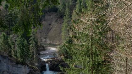 Blick auf die Buchenegger Wasserfälle