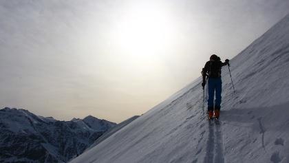 Auf 3000 m noch nordseitiger Pulver