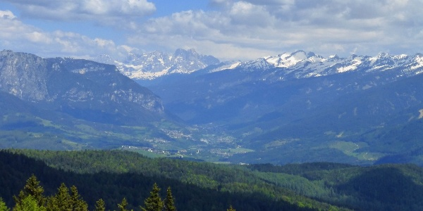 The beautiful panorama over Fiemme Valley