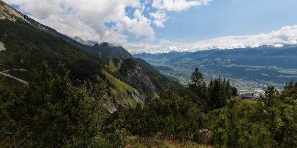 Ausblick Vintlalm Thaur Tirol