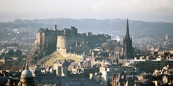 View of Edinburgh Castle from Arthur's Seat