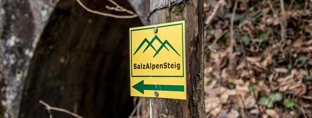 Der Stollenweg ist Teil des SalzAlpenSteiges