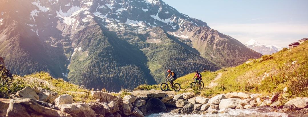 Mountain biking in Valais