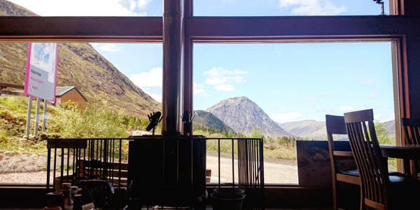 View from Glencoe Mountain Resort Cafe