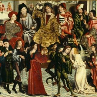 Gemälde Eidesleistung des Weseler Malers Derick Baegert