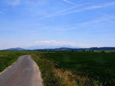Blick auf Alpen bei Ecorche Boeuf