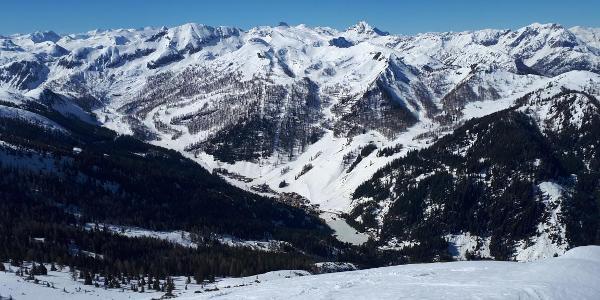 Blich ins Skigebiet von Zauchensee