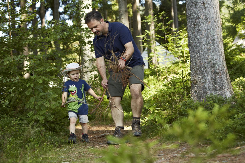Vater & Kind im Pfisterwald