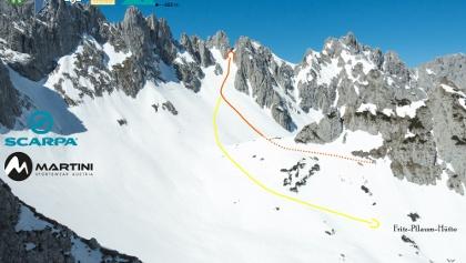 Übersichtsbild Skitour Goinger Törl vom Griesenerkar - Topo
