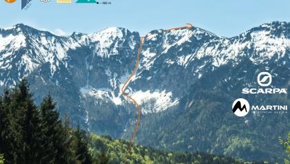 Übersichtsbild Hochschlegel Alpgartenrinne Topo Skitour