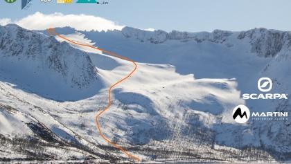 Übersichtsbild Kvænan Skitour auf Senja in Norwegen