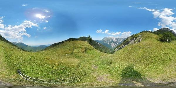 Planina Kalu - am Weg zur Lepa Komna