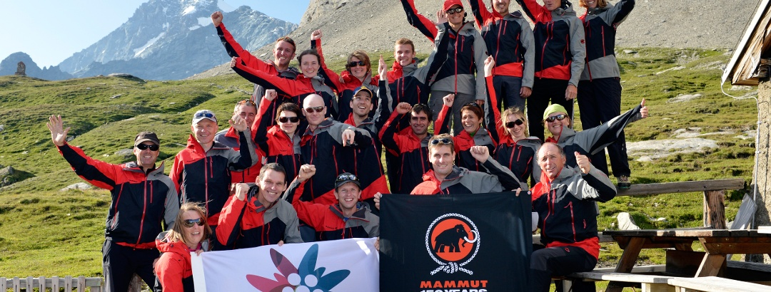 Das Team freut sich auf die bevorstehende Besteigung des Großglockners.