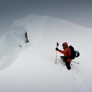 am Schwarzkopf; bissl Schnee