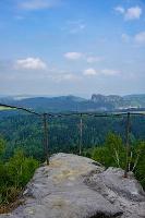 Foto Aussicht vom Kohlbornstein zu den Schrammsteinen