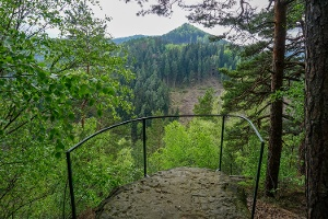 Foto Die kleine Aussichtskanzel am Kanigstein mit Blick zum Kohlbornstein
