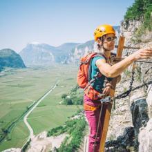 Leiter-Ausstieg mit tollem Panorama