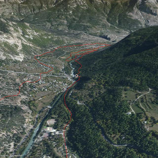 trail running route in the Pelvoux Group: Gyronde 33km Trail