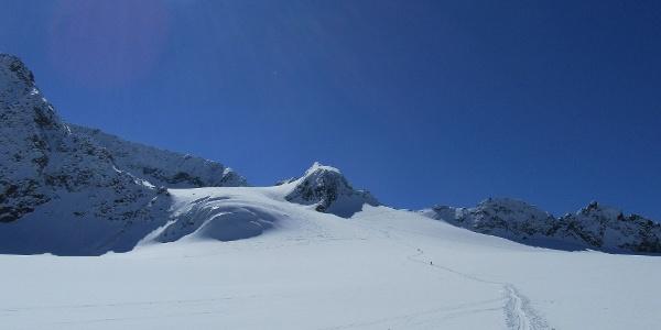 Blick Skidepot Gipfelgrat