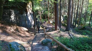Foto Abstieg über Wettinweg zur Oberen Schleuse
