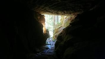 Foto Ausgang auf der Bärenhöhle
