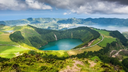 Beautiful lake of Sete Cidades