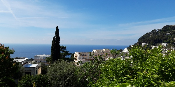 View walking out of Capri town