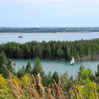 Blick auf den Störmthaler See