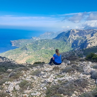 Amazing views from intersection of Deia and Valldemossa Trail