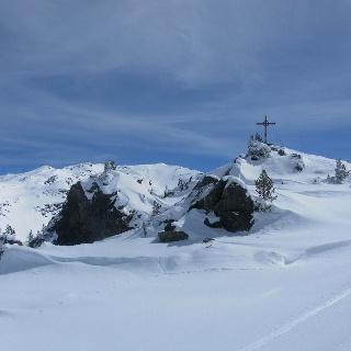 Karspitze, links dahinter Kreuzjoch