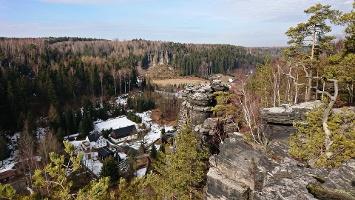 Foto Aussicht vom Großvaterstuhl auf das Bielatal